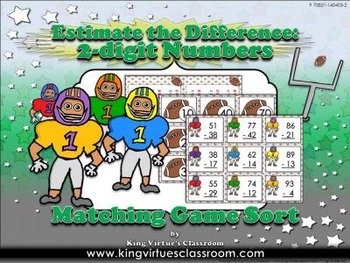 Estimate the Difference: 2-digit Numbers Matching Game Sort - Football