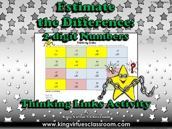 Estimate the Difference: 2-digit Numbers Thinking Links #1