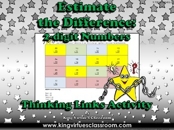 Estimate the Difference: 2-digit Numbers Thinking Links #2