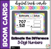 Estimate the Difference 3-Digit Numbers| Boom Cards |Dista