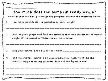 Estimate the Pumpkin's Weight - an October Activity