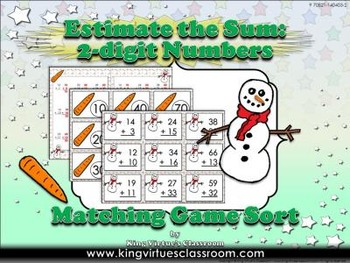 Estimate the Sum: 2-digit Numbers Matching Game Sort - Add