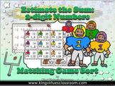 Estimate the Sum: 2-digit Numbers Matching Game Sort - Football - King Virtue