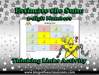 Estimate the Sum: 2-digit Numbers Thinking Links Activity
