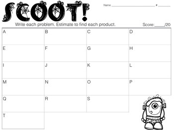 Estimate to Find the Product SCOOT