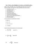 Estimated Conversions and Literal Equations Quiz