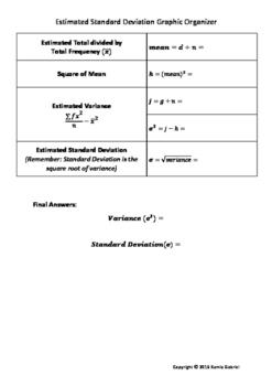 Estimated Standard Deviation Graphic Organizer