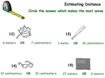 Basic Math Skills - Estimating - (worksheet included) (SMART BOARD)
