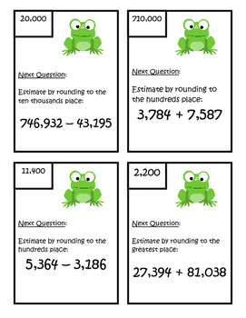 Estimating Adding and Subtracting Scavenger Hunt - 4.NBT.4