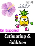 Estimating Addition Word Problems -- Task Cards -- Spanish -- TEKS 3.4B