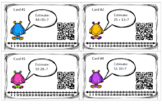 Estimating Addition and Subtraction QR Code Task Cards Scoot Monster Theme