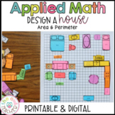 Project Based Learning Math | Area and Perimeter Activity Digital Included