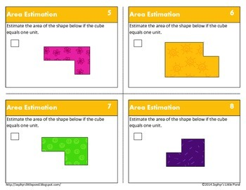 Estimating Area {Math Task Cards}