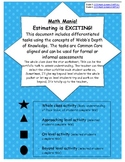 Estimating! Common Core aligned, multi-level activities (Grades 3 and 4)