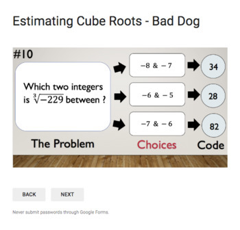 Estimating Cube Roots – Bad Dog Breakout for Google Classroom!