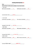 Estimating Decimal Operations Worksheet