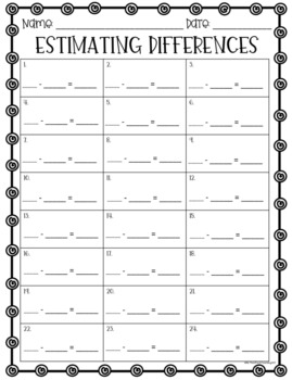 Estimating Differences / Estimate Differences Task Cards and Scoot