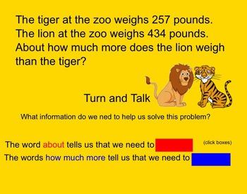 Estimating Differences-Smartboard Activity-3rd Grade Go Math!