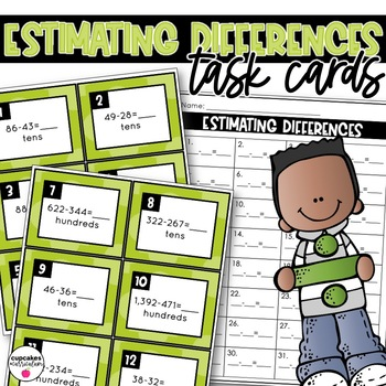 Estimating Differences Task Cards