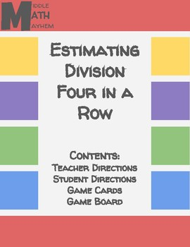 Estimating Division Connect Four Game