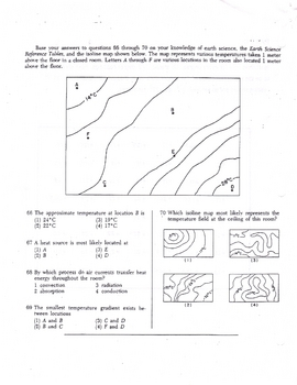 Estimating & Drawing Temperature Isolines (Earth Science meteorology)