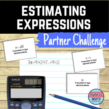 Estimating Expressions with Irrational Numbers Activity Game