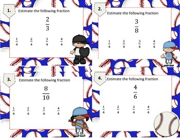 Estimating Fractions Task Cards (New TEKS Aligned) STAAR 4.3F (Supporting)