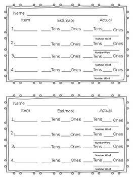 Estimating Groups of Tens and Ones
