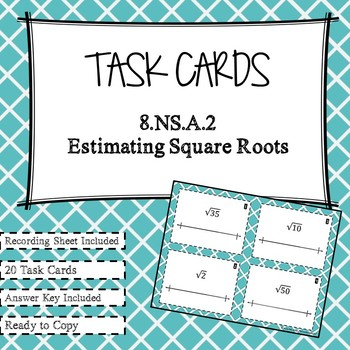 Estimating Imperfect Square Roots Task Cards