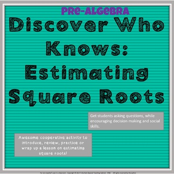 Estimating Irrational Numbers: Discover Who Knows Cooperative Activity