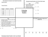 Estimating Irrational Numbers Graphic Organizer
