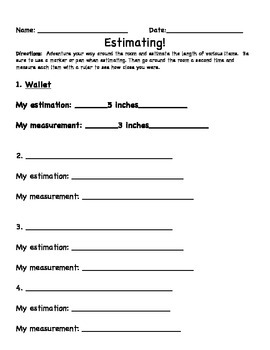 Estimating Length