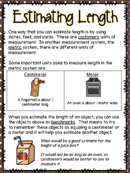 Estimating Length Small Group Lesson #2