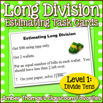 Estimating Long Division Task Card Centers