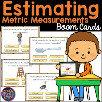 Estimating Metric Measurements Boom Cards
