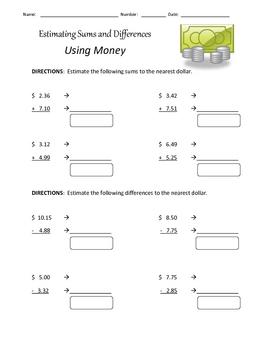 Estimating Money