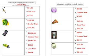 Estimating & Multiplying Decimals STATIONS Estimate Multiply