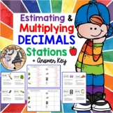 Multiplying Decimals STATIONS Activity Answer Key DIGITAL for Distance Math