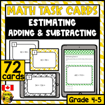 Estimating Numbers Task Cards Grades 4-5