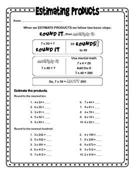 Estimating Products by MrTeachIt   Teachers Pay Teachers