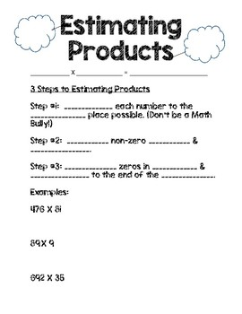 Estimating Products Interactive Journal