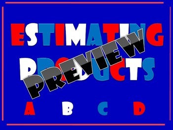 Estimating Products (Multiplication) PowerPoint & PDF