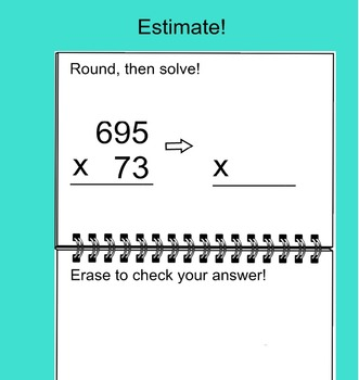 Estimating Products Multiplication SmartBoard Activity