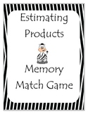 Estimating Products - Zebra Memory Match Game