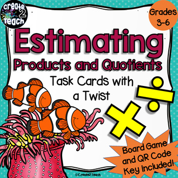 Estimating Products and Quotients Task Card Board Game