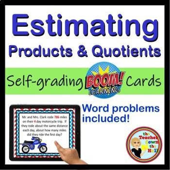 Estimating Products and Quotients to the Millions Place - BOOM Cards! (24 Cards)