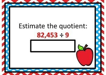 Estimating Products and Quotients - 24 Self-checking BOOM Cards!