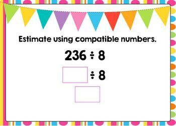 Estimating Quotients Using Compatible Numbers Digital Boom Cards