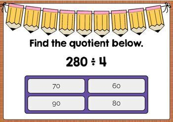 Dividing by Multiples of 10, 100, and 1,000 Boom Cards
