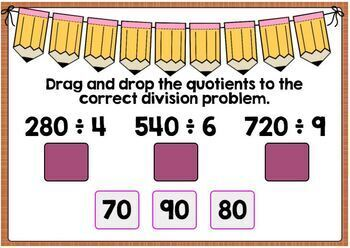 Dividing by Multiples of 10, 100, and 1,000 Digital Boom Cards